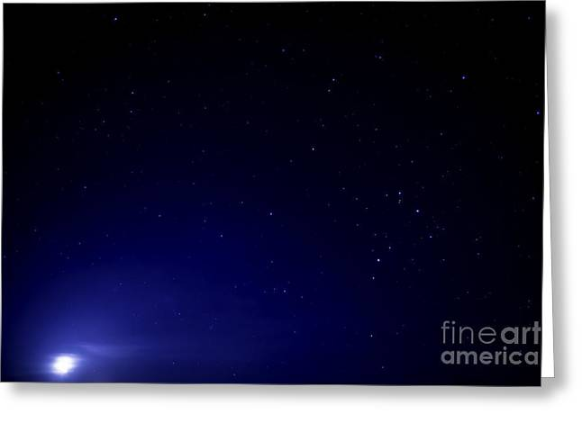 Nikon D800 Greeting Cards - The Moon and Stars  Greeting Card by Thomas R Fletcher