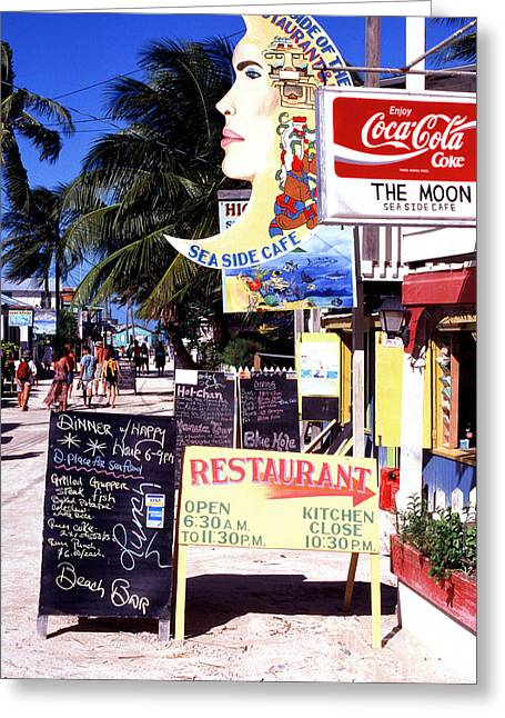 Paradise Road Greeting Cards - The Moon Cafe Greeting Card by Thomas R Fletcher