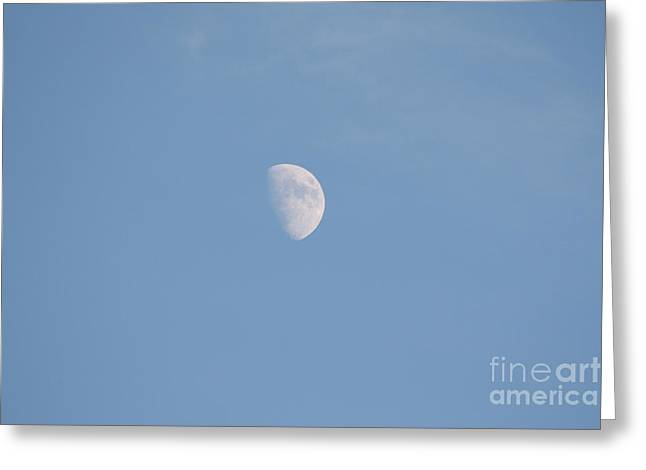 Ocean Photography Greeting Cards - The Moon High Above The Atlantic Ocean Greeting Card by John Telfer