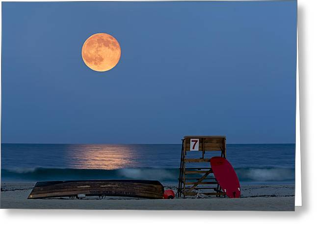 Super Moon Greeting Cards - The Moon Is Yours Greeting Card by Susan Candelario