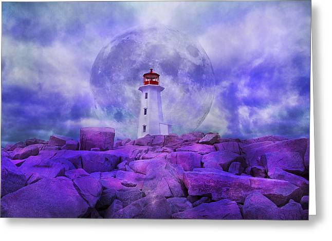 The Moon Knows Where to Rise Greeting Card by Betsy A  Cutler