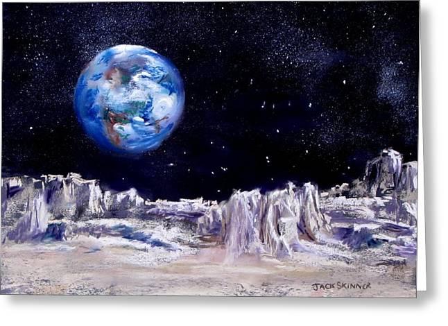 The Moon Rocks Greeting Card by Jack Skinner