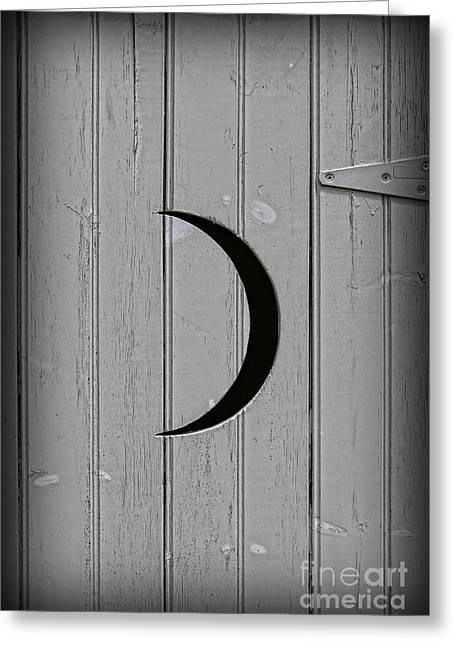 Antique Outhouse Greeting Cards - The Moonlight Outhouse Greeting Card by Lee Dos Santos