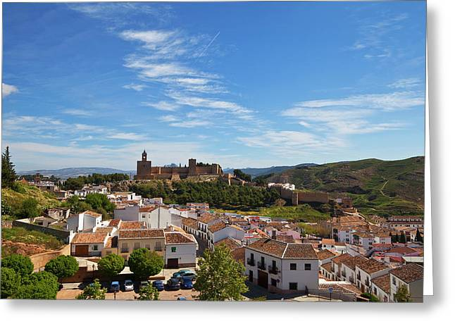 The Moorish Built Alcazaba Castle Greeting Card by Panoramic Images