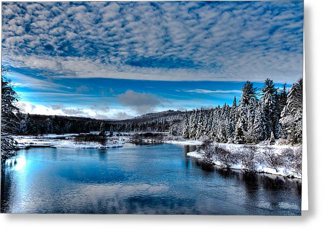 David Patterson Greeting Cards - The Moose River in Early December Greeting Card by David Patterson