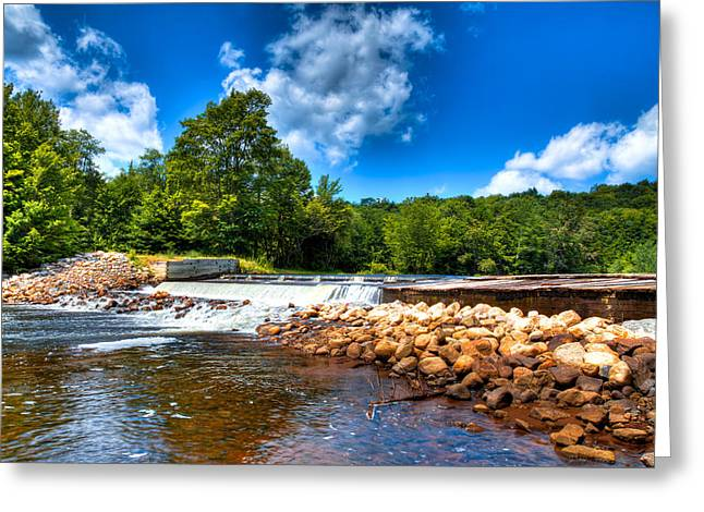 Spillways Greeting Cards - The Moose River Lock and Dam Greeting Card by David Patterson