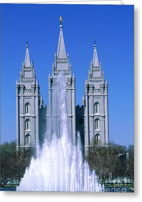 Salt Lake City Temple Greeting Cards - The Mormon Temple Greeting Card by Adam Sylvester