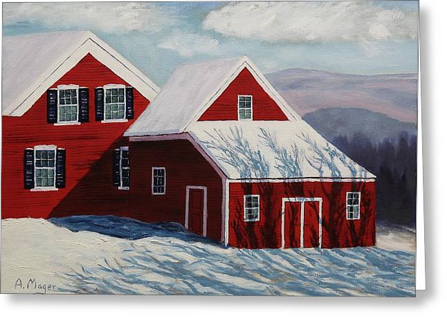 Snowstorm Framed Prints Greeting Cards - The Morning After Greeting Card by Alan Mager