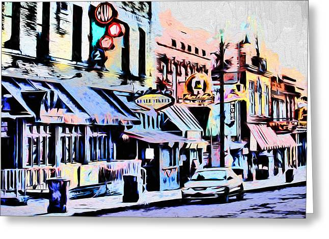 Barry Styles Greeting Cards - Memphis - Beale Street - The Morning After Greeting Card by Barry Jones
