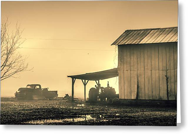 The Morning Fog Greeting Card by Chris Modlin