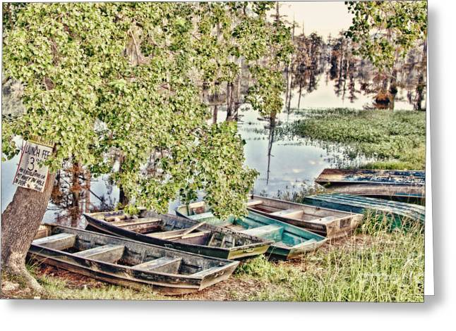 Swamp People Greeting Cards - The Morning Lineup Greeting Card by Scott Pellegrin