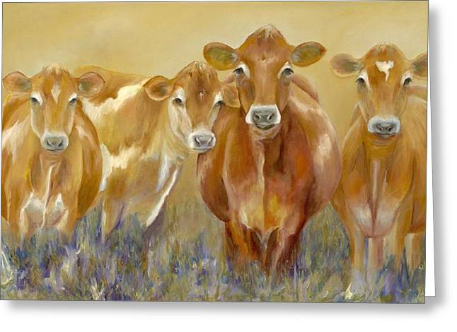 The Morning Moo Greeting Card by Catherine Davis
