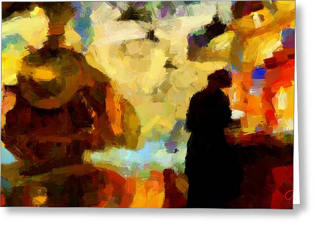 The Morning Train Tnm Greeting Card by Vincent DiNovici