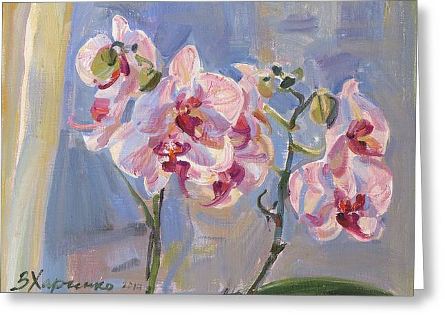 """""""flower Still Life"""" Greeting Cards - The morning Greeting Card by Victoria Kharchenko"""