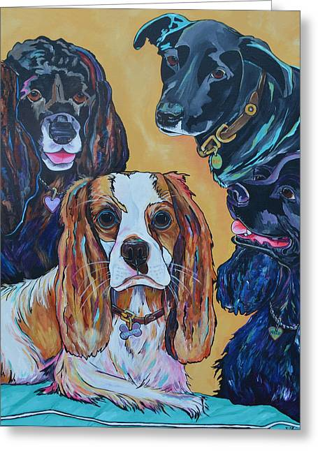 Commission Work Greeting Cards - The Moseley Gang Greeting Card by Patti Schermerhorn