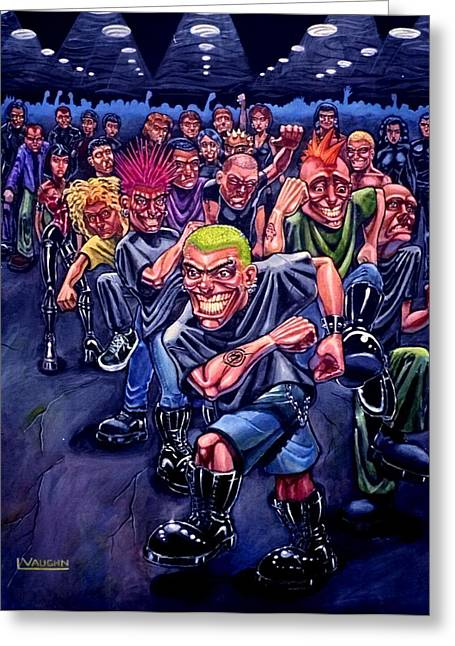The Mosh Pit Greeting Card by Lance Vaughn