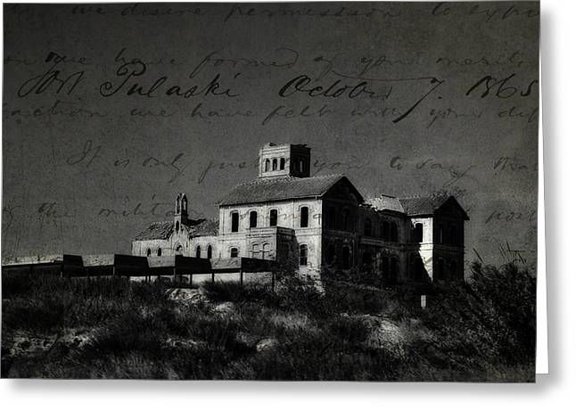 The Most Haunted House In Spain. Casa Encantada. Welcome To The Hell Greeting Card by Jenny Rainbow