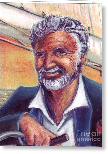 Tv Commercial Greeting Cards - The Most Interesting Man in the World Greeting Card by Samantha Geernaert