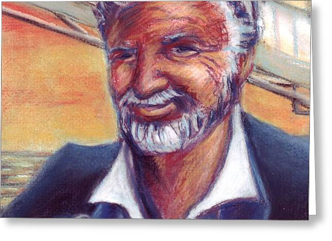 The Most Interesting Man in the World Greeting Card by Samantha Geernaert