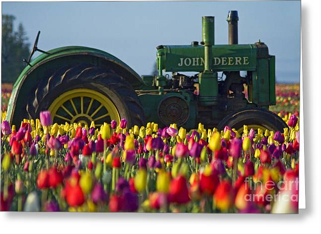 Pacificnorthwest Greeting Cards - The Most Photographed Tractor In Oregon Greeting Card by Nick  Boren