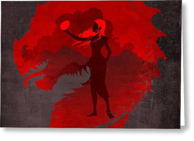 The Mother of Dragons Greeting Card by Christopher Ables