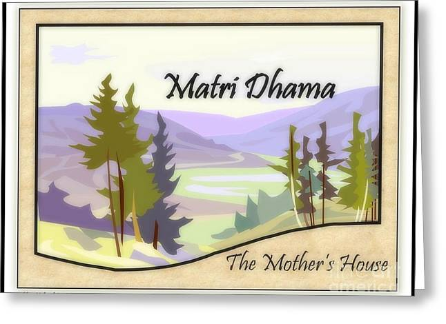 The Mothers House Greeting Card by Bobbee Rickard