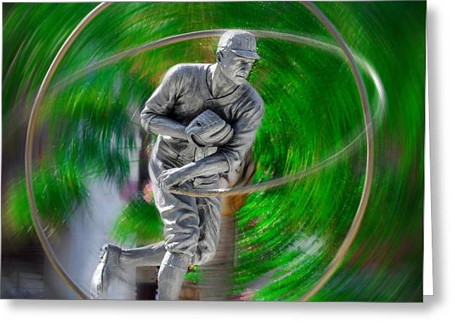 Phillie Digital Greeting Cards - The Motion of the Pitch Greeting Card by Bill Cannon