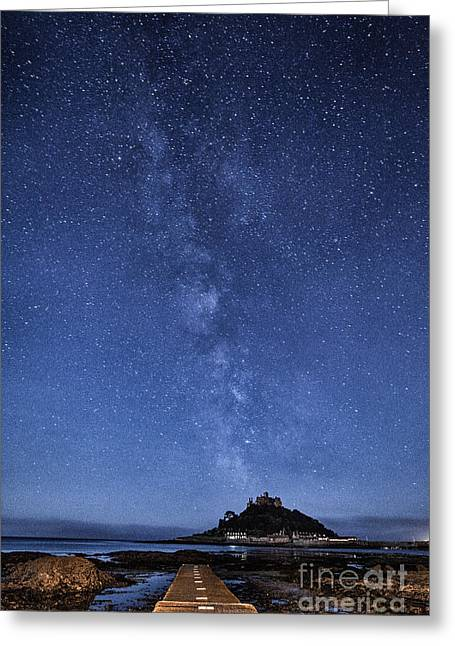 Vista Greeting Cards - The mount and the milkyway Greeting Card by John Farnan