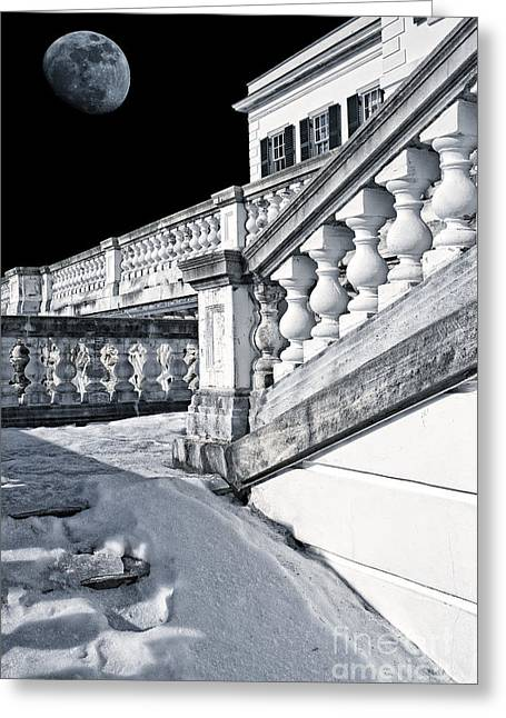 The Houses Photographs Greeting Cards - The Mount at Midnight Greeting Card by Edward Fielding