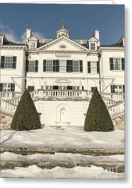 The Houses Photographs Greeting Cards - The Mount Edith Warton Estate Lenox Ma Greeting Card by Edward Fielding