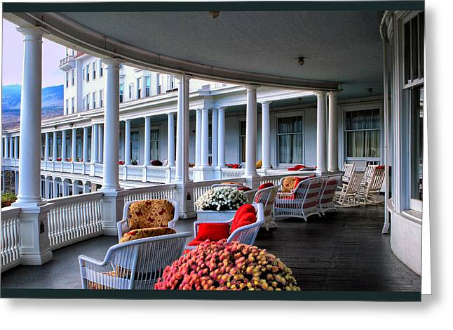 Wrapped Around Greeting Cards - The Mount Washington Brenton Woods Hotel Greeting Card by Tom Prendergast