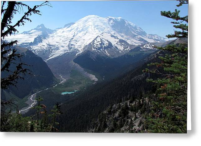 White River Greeting Cards - The Mountain Greeting Card by Angie Vogel