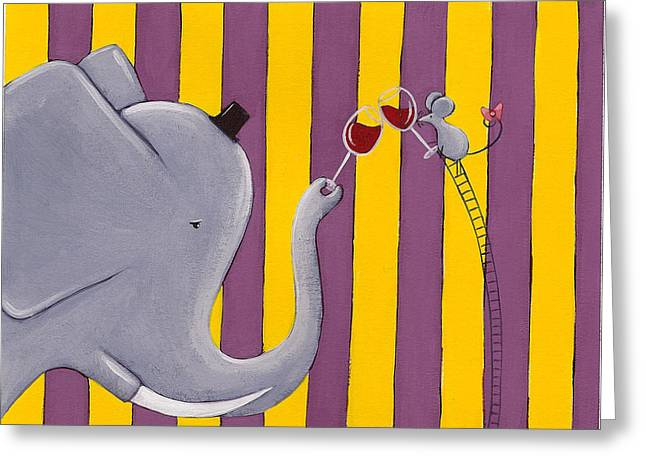 The Mouse and the Elephant Greeting Card by Christy Beckwith