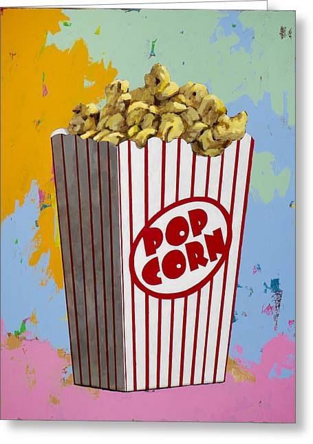 Popcorn Greeting Cards - The Movies #2 Greeting Card by David Palmer