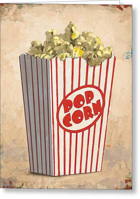 Popcorn Greeting Cards - The Movies Greeting Card by David Palmer