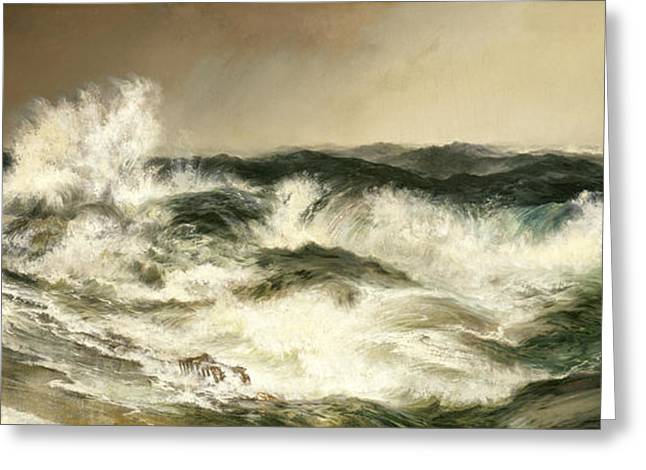 Sea Animals Greeting Cards - The Much Resounding Sea Greeting Card by Thomas Moran