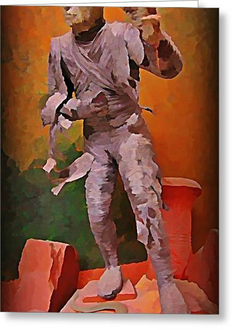Halifax Art Work Greeting Cards - The Mummy Greeting Card by John Malone