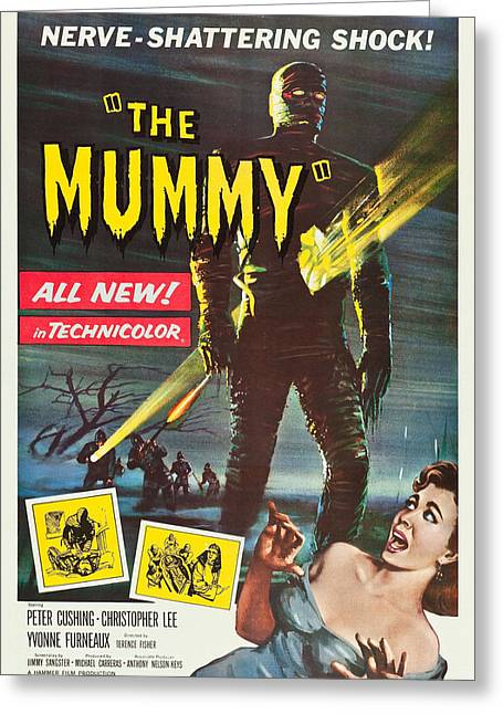 Horror Greeting Cards - The Mummy Greeting Card by MMG Archives