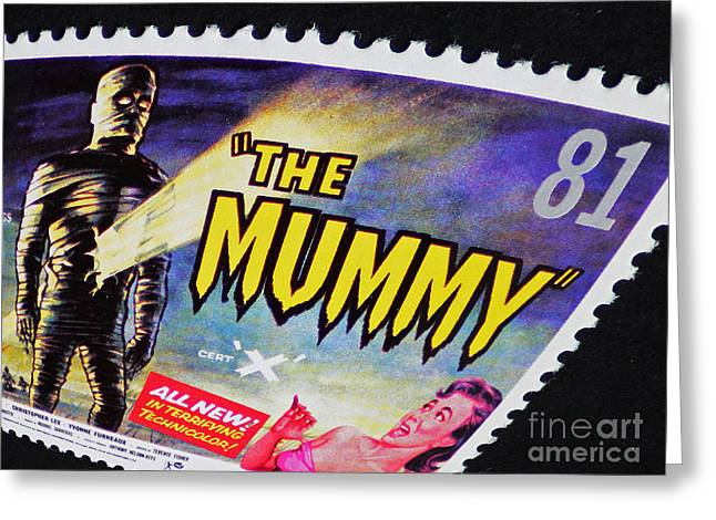 The Mummy Postage Stamp Print Greeting Card by Andy Prendy