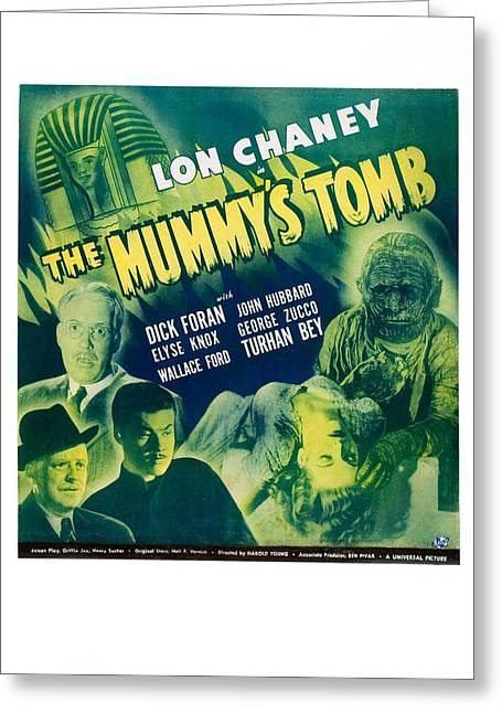 The Mummy's Tomb Greeting Card by MMG Archives