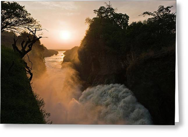 The Murchison Falls Of The River Nile Greeting Card by Martin Zwick