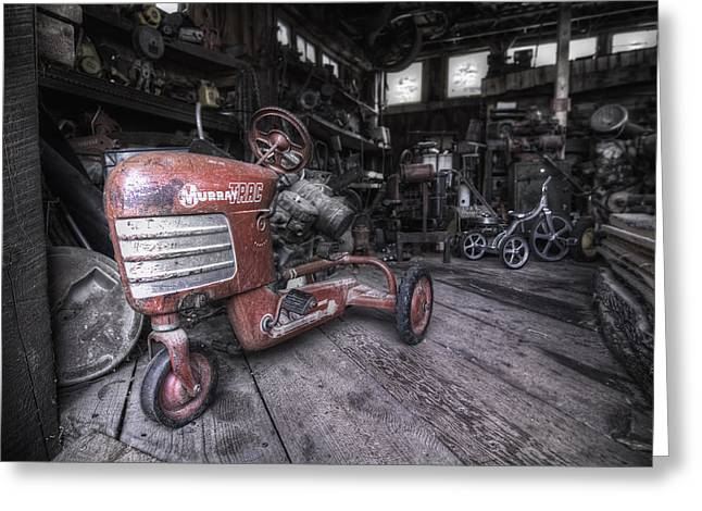 Barn Wood Greeting Cards - The Murray Trac Greeting Card by Sean Foster