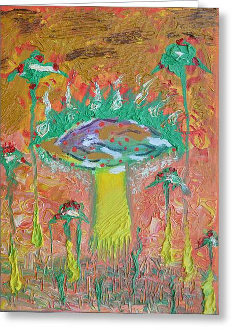 Vegetables Pastels Greeting Cards - The mushroom Greeting Card by Barnea Maria tereza