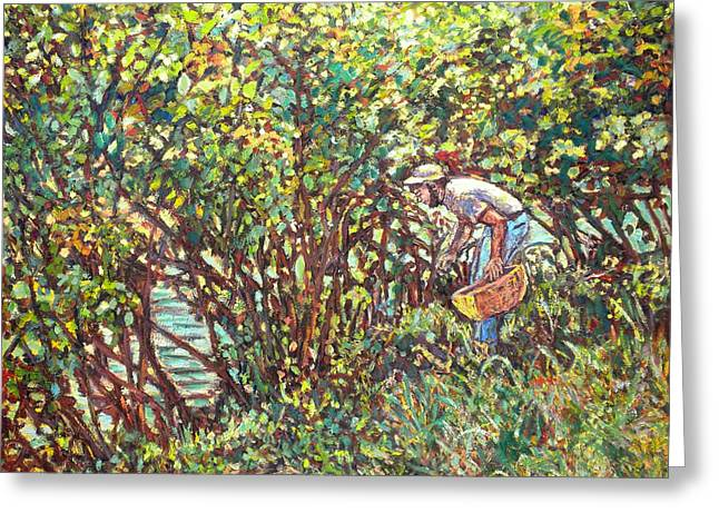 Impressionist Greeting Cards - The Mushroom Picker Greeting Card by Kendall Kessler