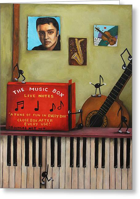 The Music Box Greeting Card by Leah Saulnier The Painting Maniac