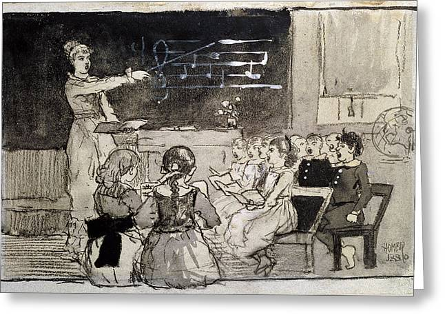 Lessons Greeting Cards - The Music Lesson Greeting Card by Celestial Images