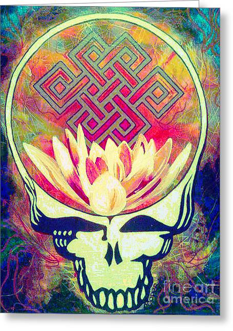 Tibetan Buddhism Greeting Cards - The Music Never Stops Greeting Card by Kevin J Cooper Artwork