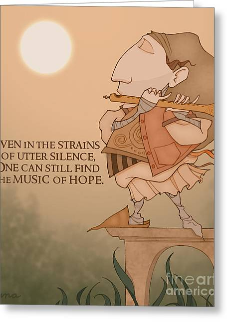The Music Of Hope Greeting Card by Steven Luna