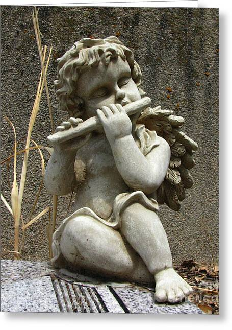 Headstones Greeting Cards - The Musician 02 Greeting Card by Peter Piatt