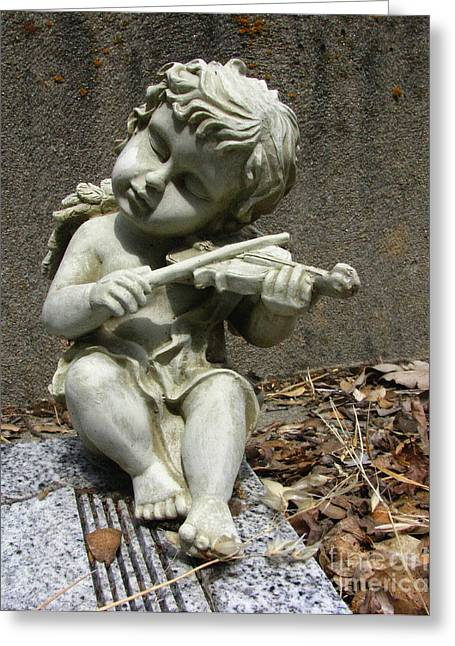 Polyptych Greeting Cards - The Musician 03 Greeting Card by Peter Piatt
